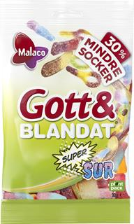 Gott & Blandat Supersur mindre socker