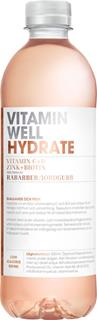 Vitamin Well Hydrate Rabarber Jordgubb PET