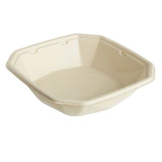 Form Bagasse Octabagasse 650ml 183x183x42mm brun ecoecho