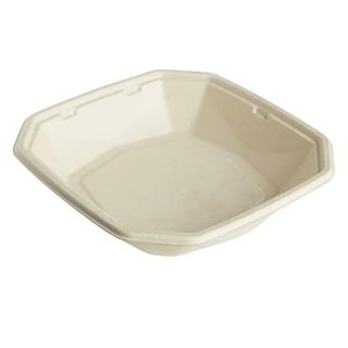 Form Bagasse Octabagasse 1000ml 224x224x42mm brun ecoecho