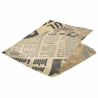 Papperspåse News brun 17,5x17,5cm 1000-pack