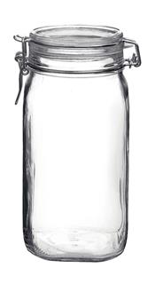 Glasburk med lock 1,5L
