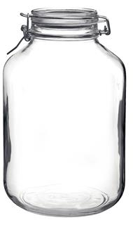 Glasburk med lock 5L