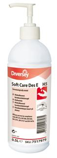 Handdesinfektion gelform etanolbaserad 500ml Soft Care