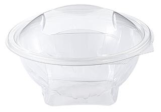 Skål med vidhängande lock PET 1000ml ø190x95mm transparent