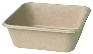 Form Bagasse 900 ml 155x155x53mm brun ecoecho