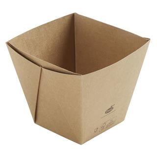 Form Kartong Viking Cube Hög 820ml 113x113x100mm brun ecoecho