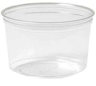 Bägare RPET Crystal Deli  500ml ø116x75mm transparent ecoecho