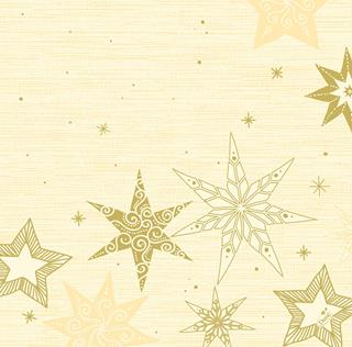 Servett Dunisoft 40x40cm Star Stories cream jul