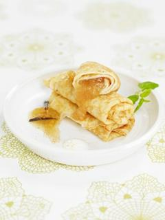 Crepes med äpple kanel